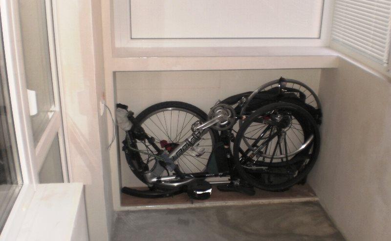 хранение разобранного велосипеда в квартире