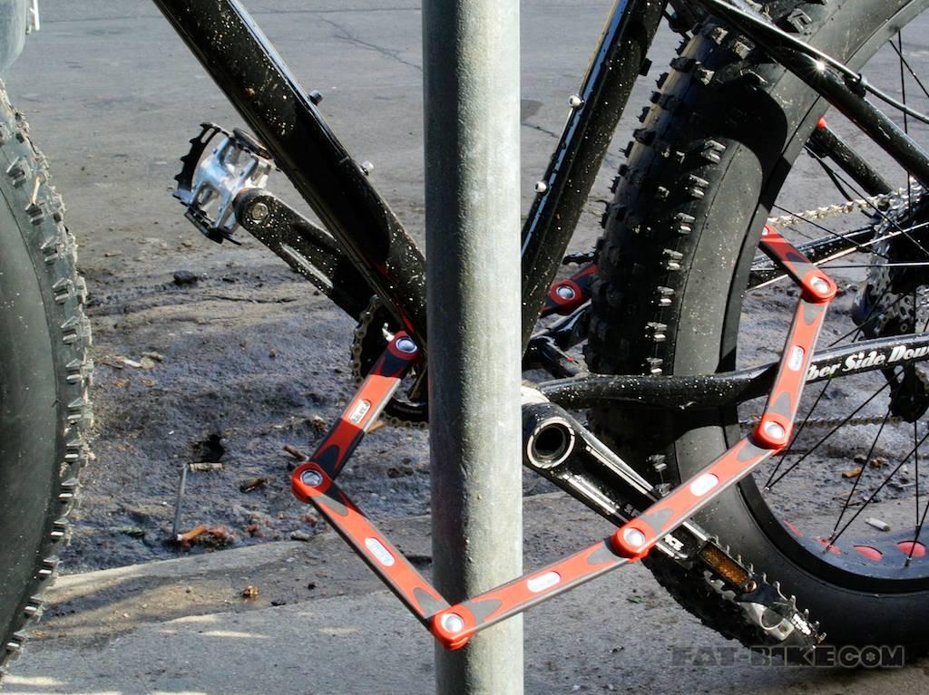 складной велозамок